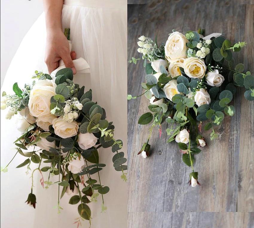 Vintage Wedding Flower Bouquets: Santorini Boho Bridal Bouquets
