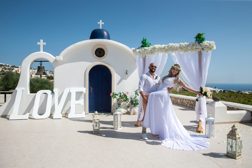 santorini wedding decorations