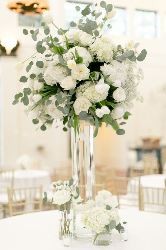 Santorini Wedding Centerpieces