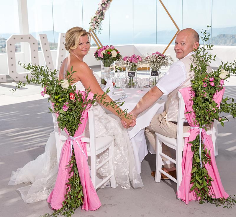 Santorini florist decoration