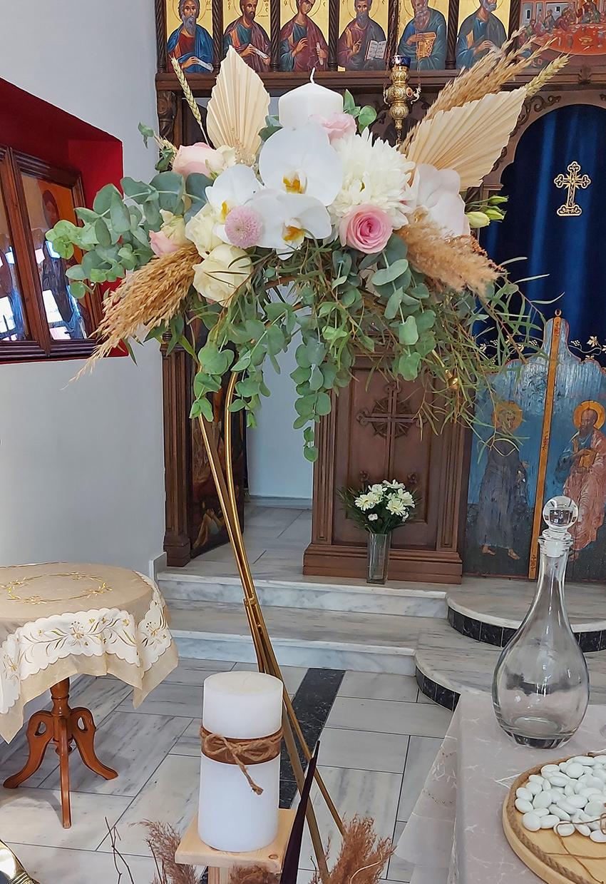 santorini florist wedding decoration